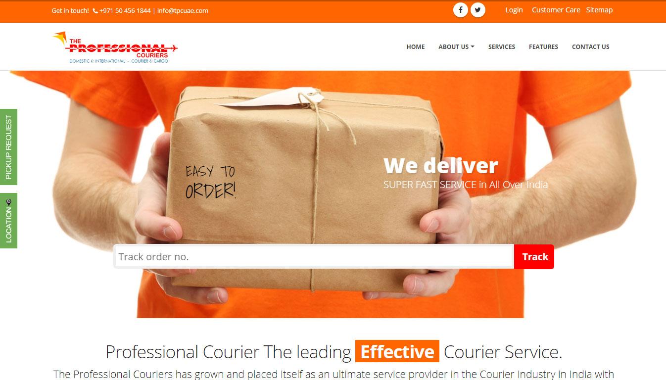 delivery website designing