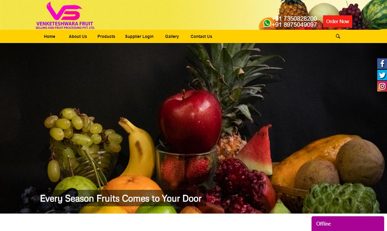 Fruits website designs
